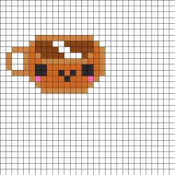 kawaii perler bead patterns kawaii coffee perler bead pattern