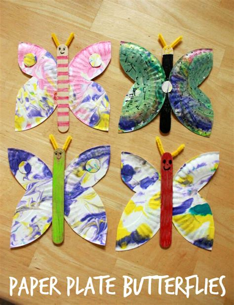 craft paper butterflies a paper plate butterfly craft an easy and creative idea