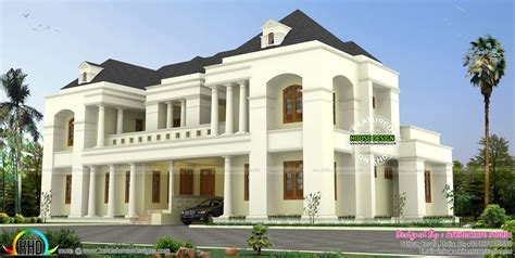 colonial style home design in kerala luxury colonial style indian home design kerala home