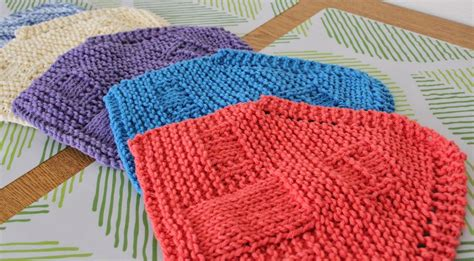 the knit house the fuzzy square knit house dishcloths in printable house