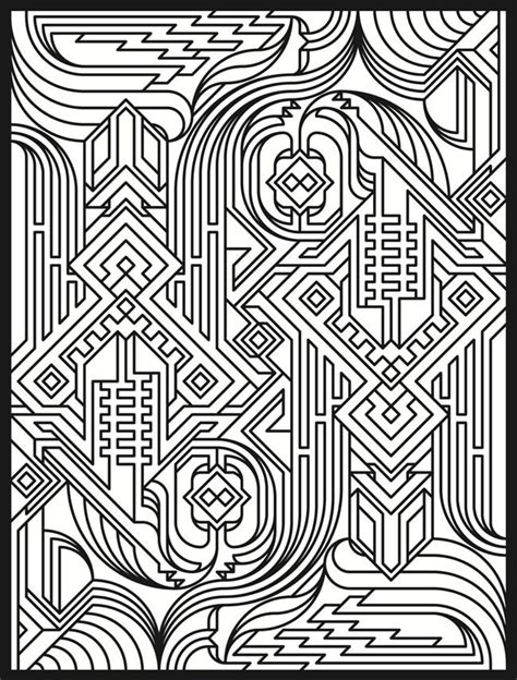 designs for adults geometric design coloring pages bestofcoloring
