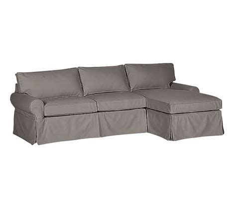 slipcovered sofas sale sale pb basic slipcovered sofa with chaise sectional