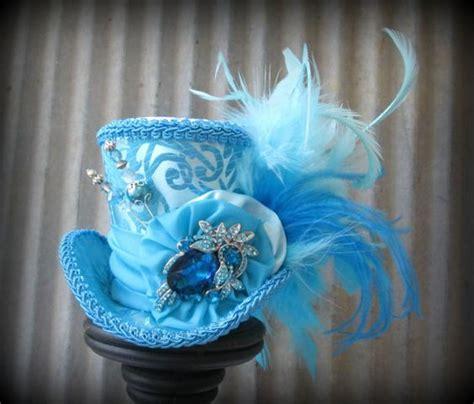 turquoise santa hat turquoise electric blue mini top hat mini mad hatter hat