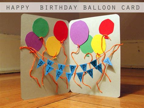 ideas of birthday cards diy birthday card ideas