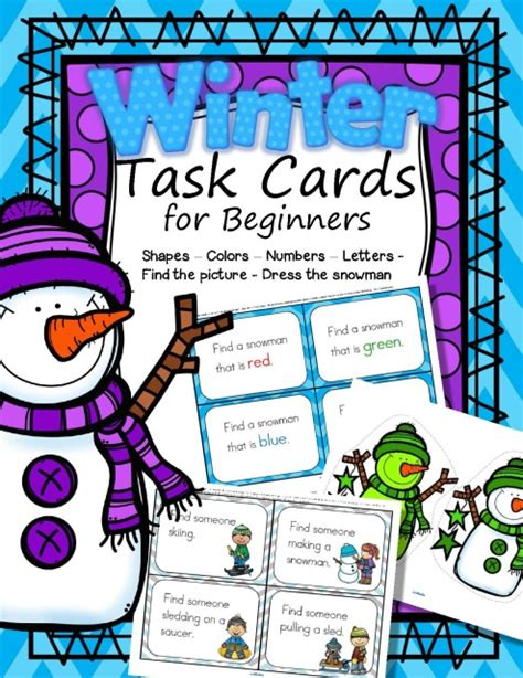 cards for beginners task cards for beginners winter