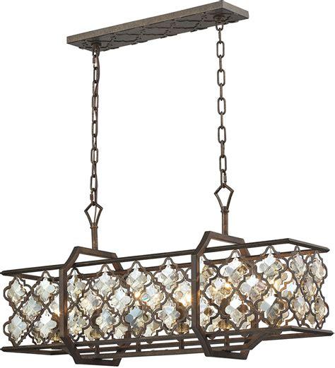kitchen island chandelier lighting elk 31098 6 armand weathered bronze kitchen island lighting elk 31098 6