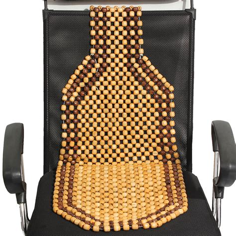 beaded car seat cover wooden beaded car taxi front seat cover cushion brown