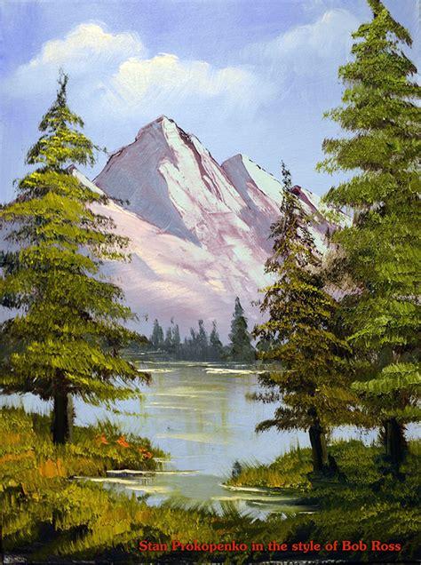 bob ross painting an evergreen tree how to paint happy trees bob ross proko