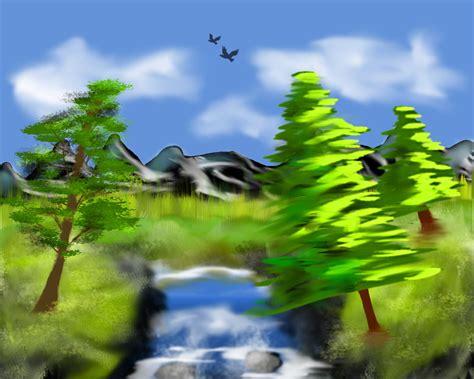 bob ross painting gimp digitales malen kreiert eure eigene naturlandschaft