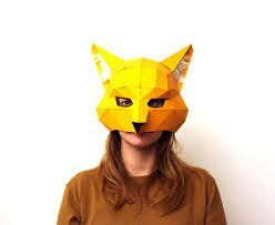 origami fox mask origami animal mask m 225 scaras origami