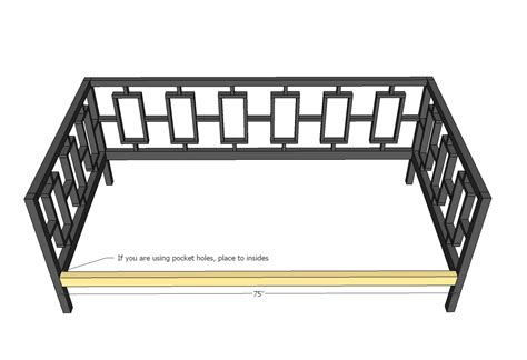 daybed woodworking plans daybed plans using mattress happy memorial day 2014