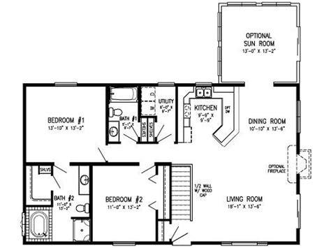 2 bedroom 2 bath floor plans 2 bedroom modular floor plans concept level laundry optional sun room 2 bedroom 2 bath