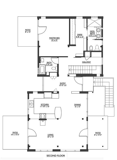 house building plans modern style house plan 2 beds 2 50 baths 1953 sq ft plan 890 6