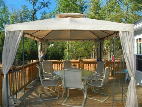 Backyard Canopy by Materials And Types Of Patio Gazebo For Your Landscape