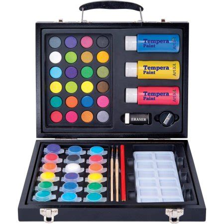 and crafts sets 101 52 deluxe and washable paint set in wood