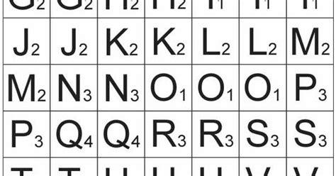 scrabble consonant words printable scrabble tiles to make your own spelling