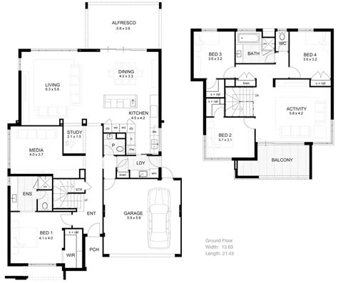 modern contemporary floor plans pictures of 2 storey modern minimalist house plan 4 home ideas