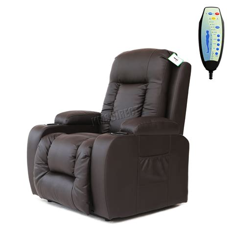 Heat Chair by Foxhunter Leather Riser Recliner Sofa Lift Arm