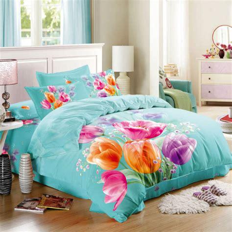 pink and orange bedding sets pink orange purple tulips 3d floral bedding set size
