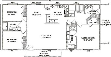 open concept ranch floor plans jamestown iv by wardcraft homes ranch floorplan manse