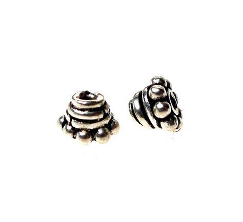 sterling silver bead caps sterling silver bead caps 5mm beading topper caps 2