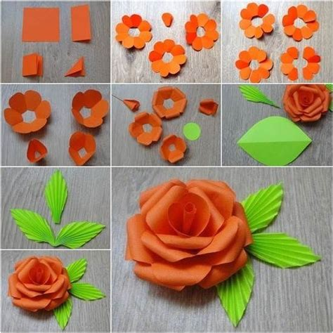 easy paper craft ideas diy paper flower flowers diy crafts home made easy crafts