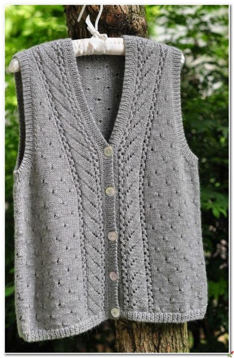 knit patterns for vests in one knitted vest patterns free home ideas