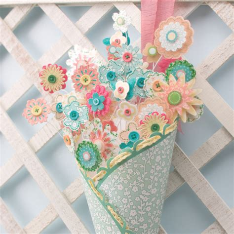 scrap paper crafts flower patch bouquet think crafts by createforless