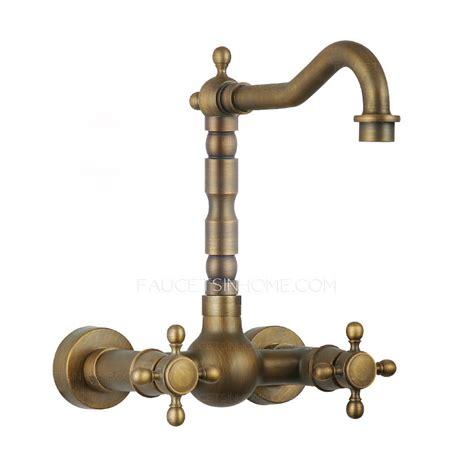 antique kitchen sink faucets vintage heightening 2 handle bronze kitchen sink faucets