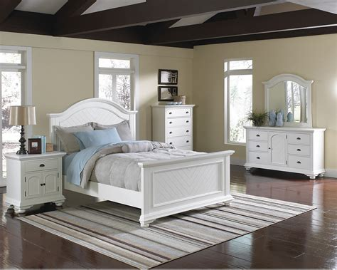 bedroom set white brook white 6 bedroom package the brick