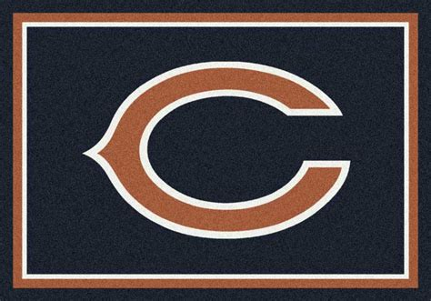 chicago bears area rug nfl logo rugs football logo mats sports rugs