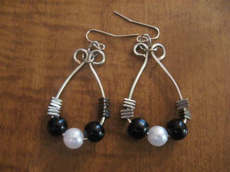 diy beaded hoop earrings diy beaded hoop wire wrapped earrings make something