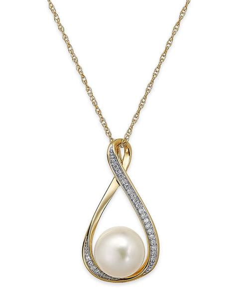 pearl pendants for jewelry cultured freshwater pearl 9mm and accent pendant