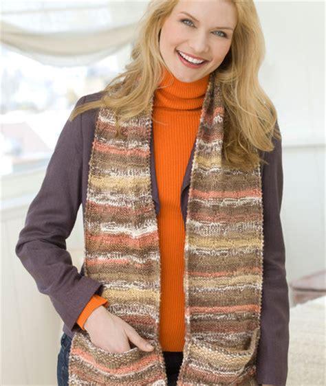 pocket scarf knitting pattern pocket scarf