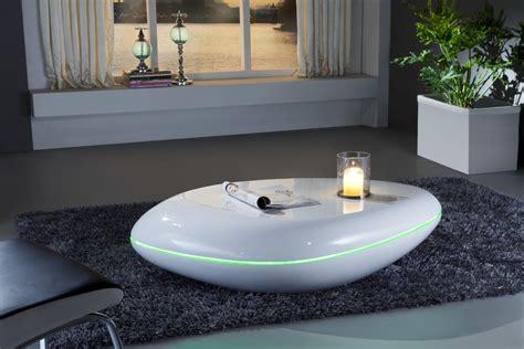 table basse design blanc laque
