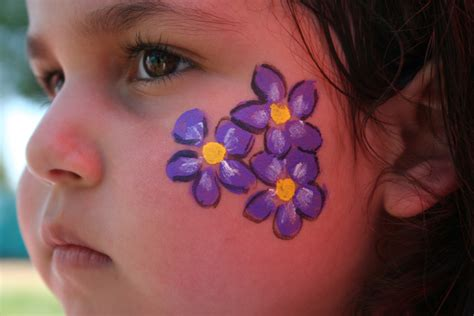 easy cheek designs simple flower paint makeup idea
