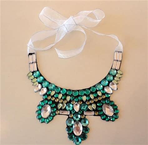 how to make a collar necklace with diy collar necklace for straples top and embellished shirt