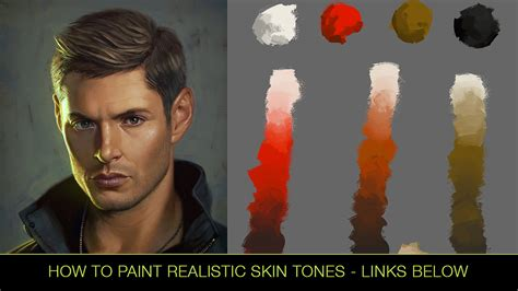 how to paint how to paint realistic skin tones tutorial by