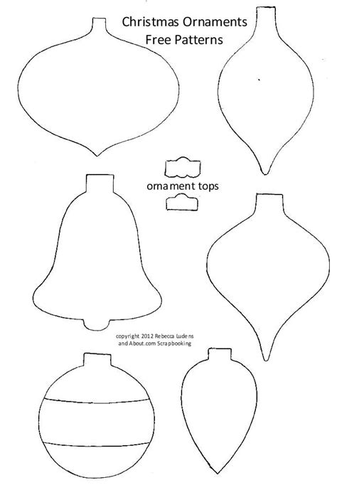 ornaments templates free get free bulb and ornament patterns for