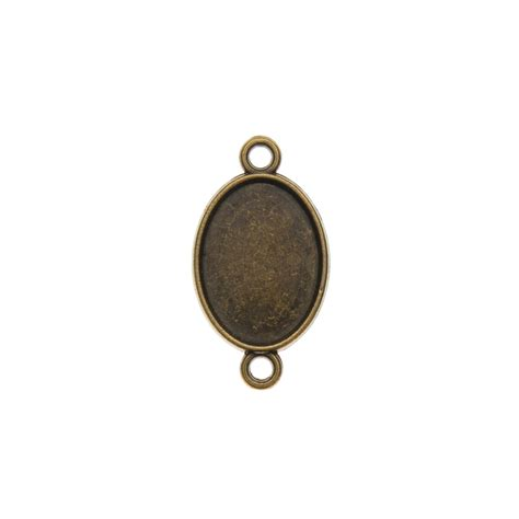 cabochons for jewelry 10pc antique bronze silver connectors for jewelry oval