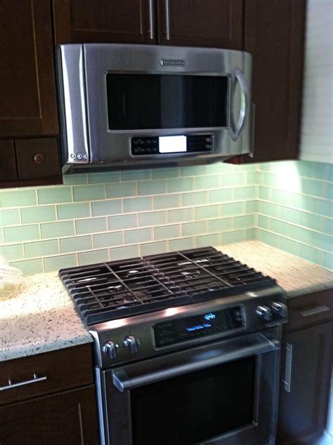 glass tile kitchen backsplash surf glass subway tile 3x6 for backsplashes showers more