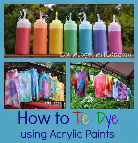 acrylic paint as fabric dye come together how to tie dye with acrylic paints