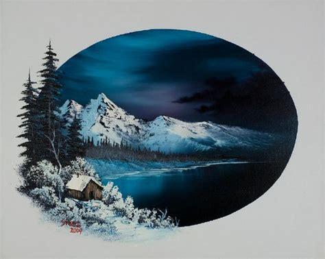 bob ross painting blue moon winter moon 86041 painting bob ross winter