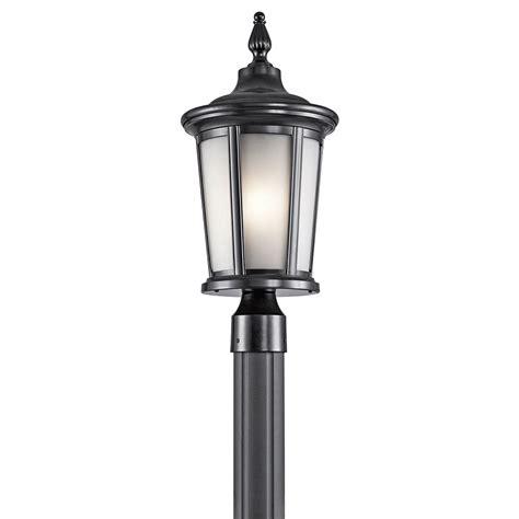 kichler exterior lighting kichler 49657bk turlee black exterior post lighting