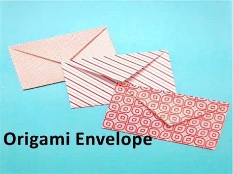 to do with paper how to make an origami envelope