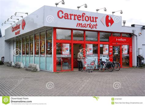 carrefour market in belgium editorial photo image 61501951