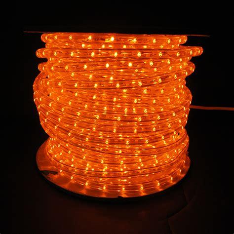 orange led rope lights orange led rope light white wire 150 spool leds