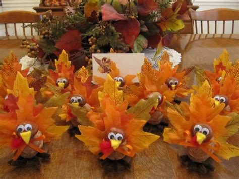 thanksgiving centerpiece craft for handmade 10 turkey placecard holders thanksgiving home