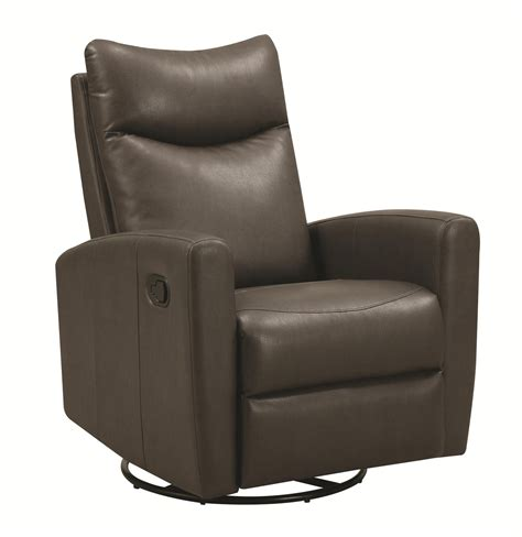 swivel leather recliner chair coaster 600035 grey leather swivel recliner a sofa