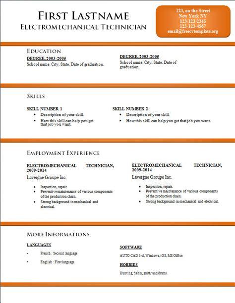 free cv resume templates 170 to 176